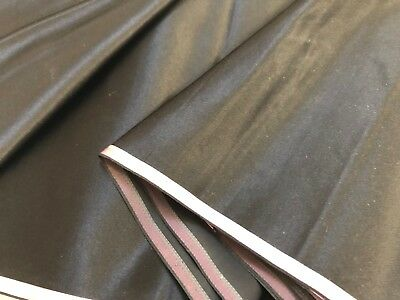 Superb Bolt C1900 Antique Vintage Silk Fabric Pink Stripe Selvedge Black Unused