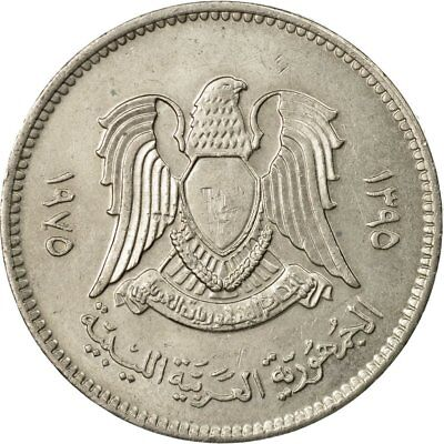 [#535834] Münze, Libya, 20 Dirhams, 1975/AH1395, SS, Copper-Nickel Clad Steel