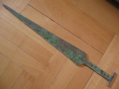 BRONZE AGE LONG SWORD ANCIENT ILLYRIANS BRONZE WEAPON 1200-900 BC. 50 cm