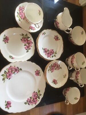 Royal Vale Roses Tea Set. service 21 piece Retro or Shabby Chic 1960