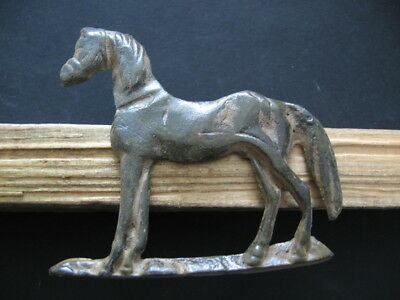 HORSE DANUBIAN HORSEMAN CULT ANCIENT CELTIC ROMAN BRONZE VOTIVE FIGURE 1-3 ct.AD