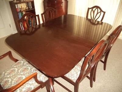 Duncan Phyfe Dining Table, Chairs, Buffet China Cabinet