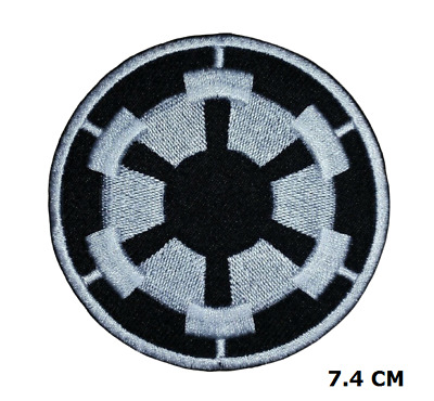 Star Wars Black Imperial Forces Logo Embroidered Iron-on Patch Jacket Badge