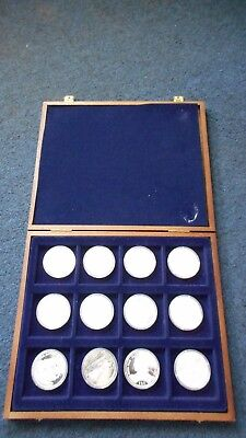 SET of 12 PROOF US CIVIL WAR SILVER COINS (.999 FINE SILVER) 2003 Liberia Mint