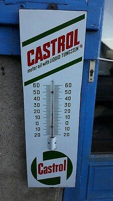 plaque emaillee huile castrol,thermometre emaille garage,EAS,pas tole litho