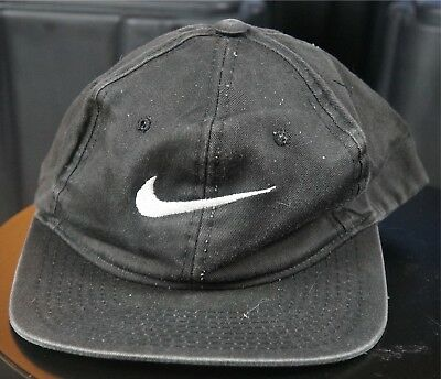 dccb7dd93 RARE VINTAGE NIKE Embroidered Swoosh Snapback Hat Cap 90s Hip Hop Retro  Youth