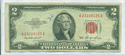 1953 $2 Red Seal U.s. Note