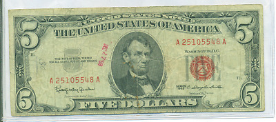 1963 $5 Red Seal U.s. Note