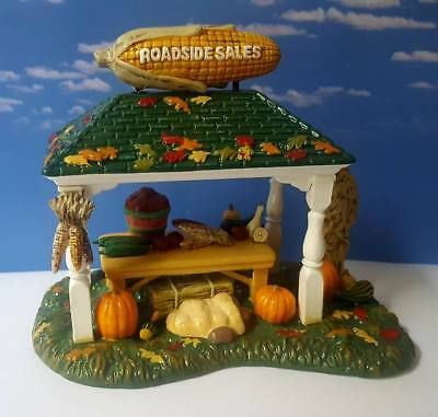 DEPT 56 Snow Village ROADSIDE PRODUCE STAND!  Fall, Autumn, Sales, Halloween