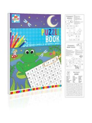 Childrens Activity A4 Size Crosswords Wordsearches Puzzle Book Educational Fun