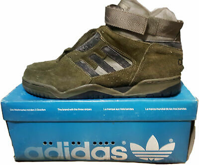 vintage adidas Enforce shoes sneaker mid hi-top basketball US10 rare deadstock