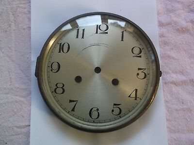 GLASS /BRASS RIM AND  FROM AN OLD   MANTLE CLOCK  OUTER 7 1/2 inch diam REF D1