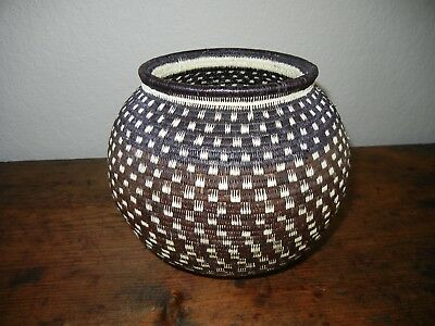 Darien Rainforest Woven Indian Basket by Wounaan and Embera Natives