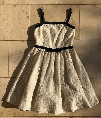 Mini Boden Girl / Teen Gold Lace Party Dress - Age 13/14