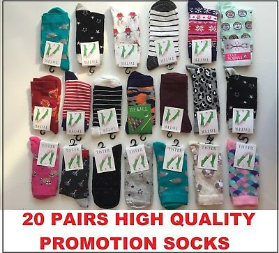 40 pairs luxury women/'s ladies design coloured socks cotton UK size4-6 MLTY