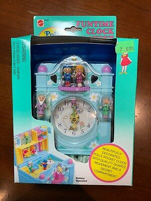 Vintage POLLY POCKET FUNTIME CLOCK PLAYSET NEW & SEALED 1992 NIB no.6428