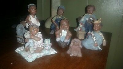 7 Piece  Sarah's Attic Figurine Lot Black Americana Collectible Limited editions