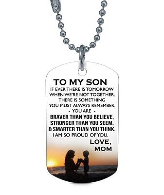 7b0a54514c8a TO MY SON Dog Tag Necklace Pendant - I'm So Proud of You - Mother ...