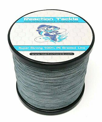 Reaction Tackle High Performance Braided Fishing Line / Braid - Gray