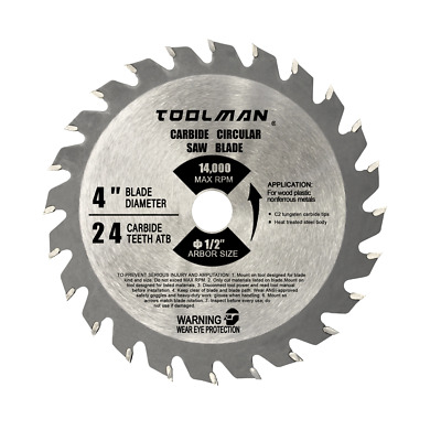 """4"""" 1/2"""" 24T Table Circular Saw Blade Carbide Tipped For Metal cutting"""