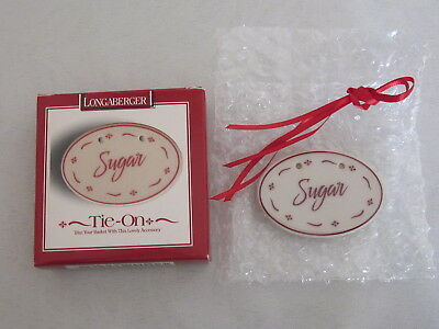 NEW Longaberger SUGAR TIE ON Traditional Red #34665 NIB Canister Kitchen