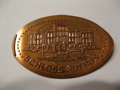 SCHLOSS PUTBUS Elongated Coin - Souvenirmünze - Quetschmünze
