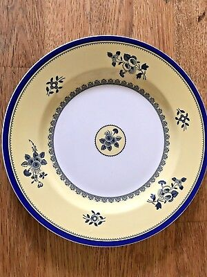 1 Spode ALBANY 8 Inch Salad / Dessert Plate Yellow Blue Made in England