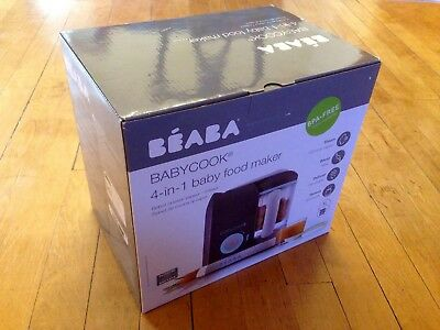 NIB BEABA BABYCOOK 4-in-1 Baby Food Maker 4.7 Cups XL Steam/Blend/Defrost/Reheat