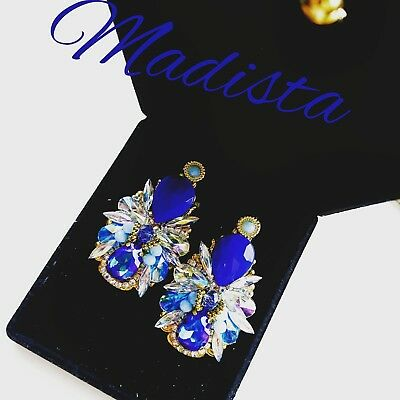 Royal Blue handmade earrings jewelry accessories craft new