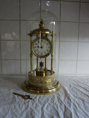 Large Disc Torsion Bandstand Anniversary Clock- Jahresuhrenfabrik-Needs Attentio