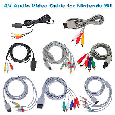 1,8 m Audio Video AV 5RCA Cable consola Cable cable para consola Nintendo Wii