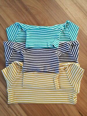3 x Mini Boden girls cotton turtle / polo neck jumper top shirt 6-7 years