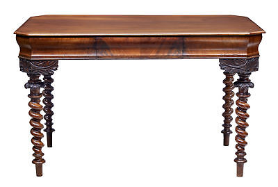 19Th Century Carved Mahogany Danish Writing Table