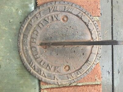 Cast Iron Mauch Chunk Iron Sun Dial from 1832 Antique