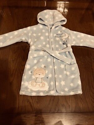 George Baby Boy Soft Dressing Gown For 12-18 Months