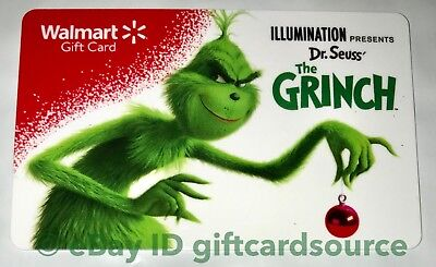 """WALMART US XMAS GIFT CARD Dr. Seuss' """"THE GRINCH"""" HOLIDAY 2018 NO VALUE NEW"""