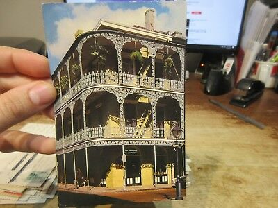 Vintage Old Postcard LOUISIANA New Orleans French Quarter Royal Street Balconies