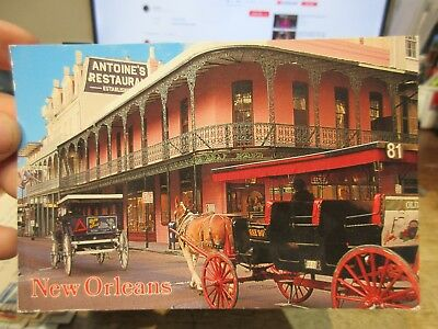 Vintage Old Postcard LOUISIANA New Orleans French Quarter Antoine's Restaurant 2