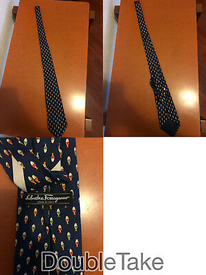 cravatta vintage originale Salvatore Ferragamo pure silk made in Italy tie