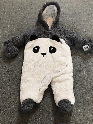 Cute Panda Snowsuit From Next Up To 3 Months