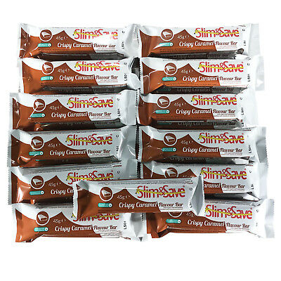 25 Crispy Caramel LowCarb HighProtein Meal Replacement VLCD Diet Bars Slim&Save