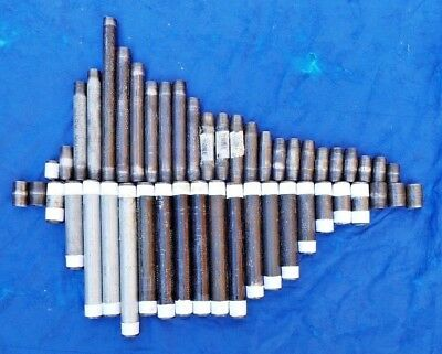 """Assorted 1/2"""" & 3/4"""" Black Iron & Galvanized Pipe Nipples [Lot of 48]"""