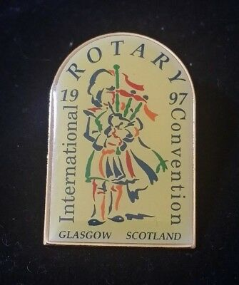 1997 Rotary International's Convention Glasgow Scotland Lapel Pin