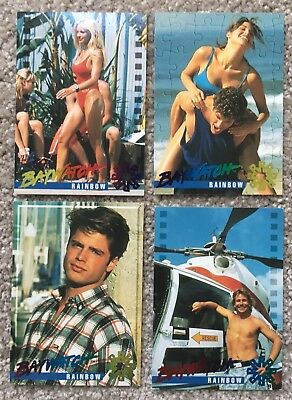 Baywatch Rainbow Card Lot - Sports Time - 1995 - 4 Cards