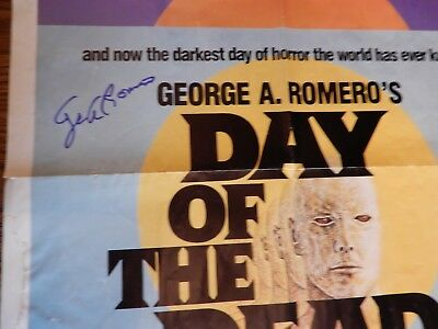 DAY OF THE DEAD Original One Sheet Poster autographed by George Romero