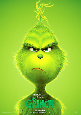 The Grinch 2018 Movie Poster - Benedict Cumberbatch Cameron Seely v1 24x36