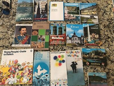 Huge lot of Vintage German Travel Brochures, In German