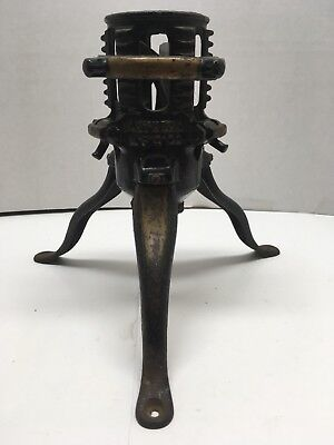 Vintage North Bros. Mfg Co. Phila Pa Black Gold Cast Iron Christmas  Tree Stand