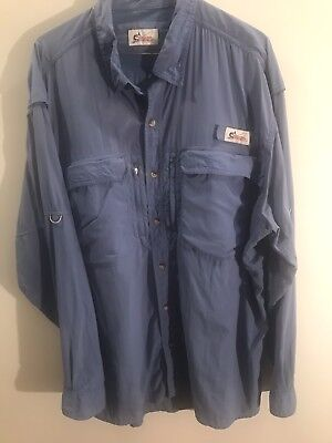 3d40812d World Wide Sportsman Mens Vented Fishing Shirts Zippered Pockets Sz XL Lot  of 3