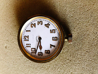 BREVET Antique Swiss 8 Day Pocket Travel Clock